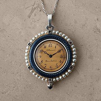 """113. J. CHAUMET, Paris-Londres, """"Belle Epoque"""", pendant watch, 29,5 mm."""