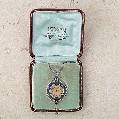 """J. chaumet, paris-londres, """"belle epoque"""", pendant watch, 29,5 mm."""