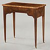 A gustavian late 18th century sewing table by jonas hultsten .