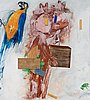 Pg thelander, dubuffet-figures and parrot.