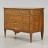 A gustavian late 18th century commode in the manner of carl lindborg.