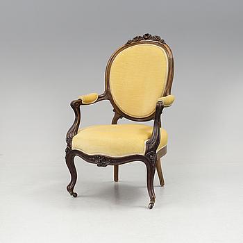 NYROKOKO, 1820, A neo-rococo armchair, late 19th century.