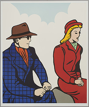 "JAN HÅFSTRÖM, JAN HÅFSTRÖM, ""From Walker with Love"", litograph, numbered och dated 736/2000,  - 2003."