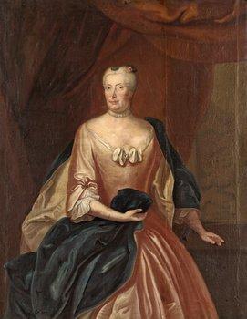 """231. OLOF ARENIUS, """"Ingeborg Christina Staël von Holstein"""" Född Horn af Rantzien (1689-1761)."""