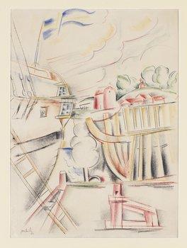 """77. John Jon-And, """"Skepp hamn"""" (Harbour)."""
