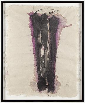 """CLAES HAKE, """"Hyllning till Jackson Pollock"""", Akryl på papper, signerad och daterad 031801."""