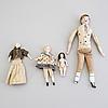 Dockor och dockhuvuden, 12 delar, porslin, tyskland 1800 talets andra hälft
