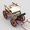 A painted metal horse carriage germany c 1890-1900.