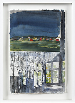 LARS LERIN, LARS LERIN, watercolor, signed and dated 2009.