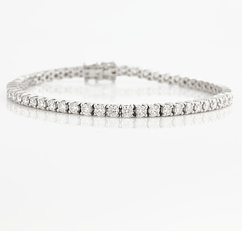 ARMBAND, med briljantslipade diamanter ca 4.50 ct.