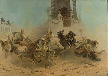 ADOLF BAUMGARTNER (CONSTANTIN STOILOFF), ADOLF BAUMGARTNER, attributed to, oil on canvas, signed.