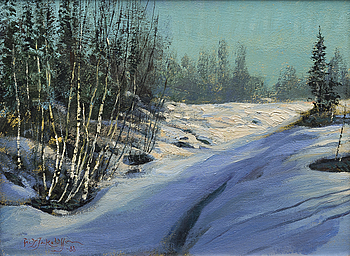 FRITZ JAKOBSSON, FRITZ JAKOBSSON, oil on canvas, signed and dated -88.