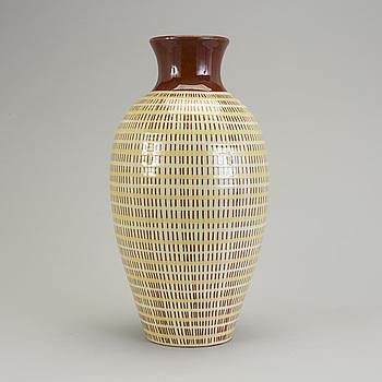ANNA-LISA THOMSON, An ANNA-LISA THOMSON earthen ware vase from Upsala-Ekeby, mid 20th Century.