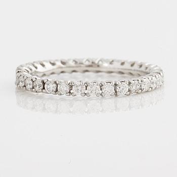 A ca 0.80 cts brilliant-cut diamond ring.