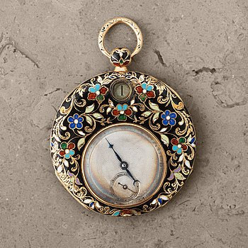"""112. POCKETWATCH, 41 mm, """"Jumping Hour"""", French,"""