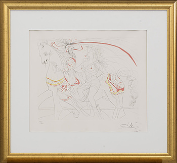 SALVADOR DALÍ, SALVADOR DALÍ, lithograph in colours signed and numbered 129/250.