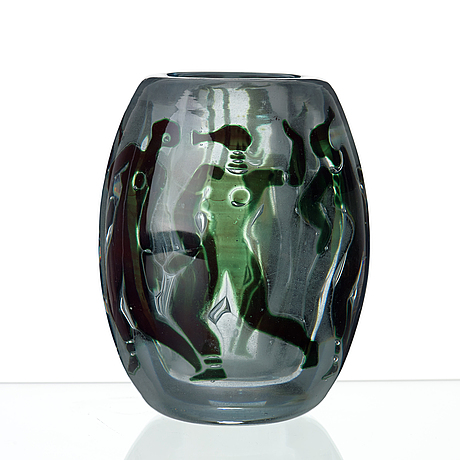 Vicke Lindstrand A Vicke Lindstrand Graal Glass Vase Orrefors
