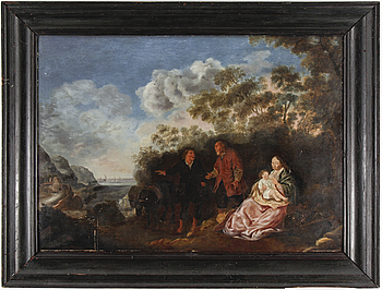DAVID TENIERS D.Y, DAVID TENIERS D.Y, circle of, oil on panel, unsigned.