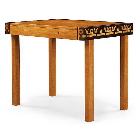 Carl malmsten, a carl malmsten mahogny working table, Åtvidabergs möbelindustri, sweden ca 1934.