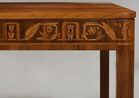 Carl malmsten, a carl malmsten mahogany partner's desk, Åtvidaberg, sweden circa 1934.