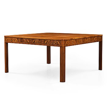 2. CARL MALMSTEN, A Carl Malmsten mahogany partner's desk, Åtvidaberg, Sweden circa 1934.