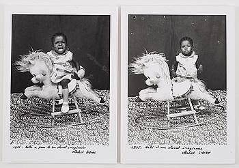 MALICK SIDIBÉ, gelatinsilverfotografi, 2 st, signerade Malick Sidibé.