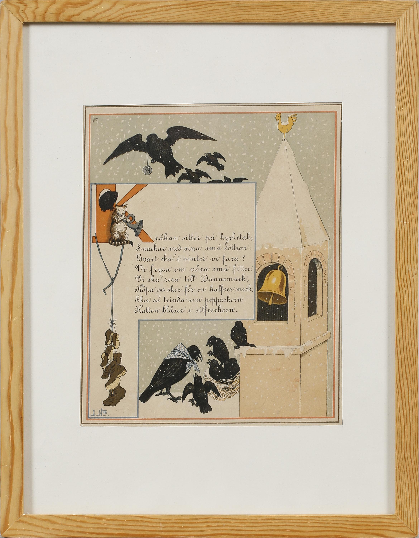 JENNY NYSTRÖM, JENNY NYSTRÖM, after, two litographs in color, signed ...