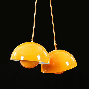 A pair of lamps by Verner Panton for Louis Poulsen, second half of the 20th century, hight ca 15 cm.