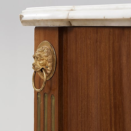 A pair of late gustavian cupboards attributed to gottlieb iwersson (master in stockholm 1778-1813), circa 1790.