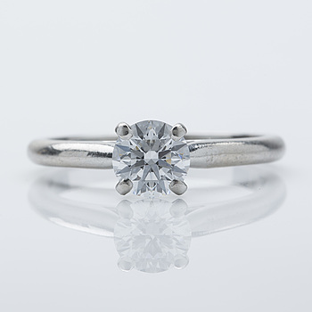 CARTIER, ring, platina med briljantslipad diamant ca 0.58 ct.