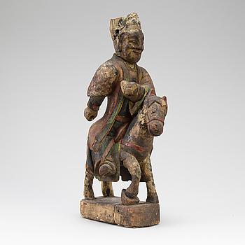 SKULPTUR, Kina, troligen 1700/1800-tal.