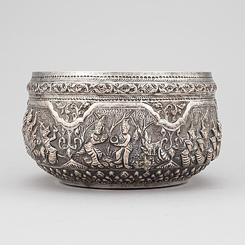 A Thailand silverplated bowl, 20th century.