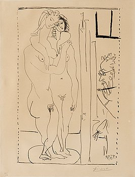 PABLO PICASSO, PABLO PICASSO, lithograph, 1954, on Arches paper, signed in pencil and numbered 20/50.