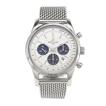 BREITLING, Transocean, chronograph, wristwatch, 43 mm,