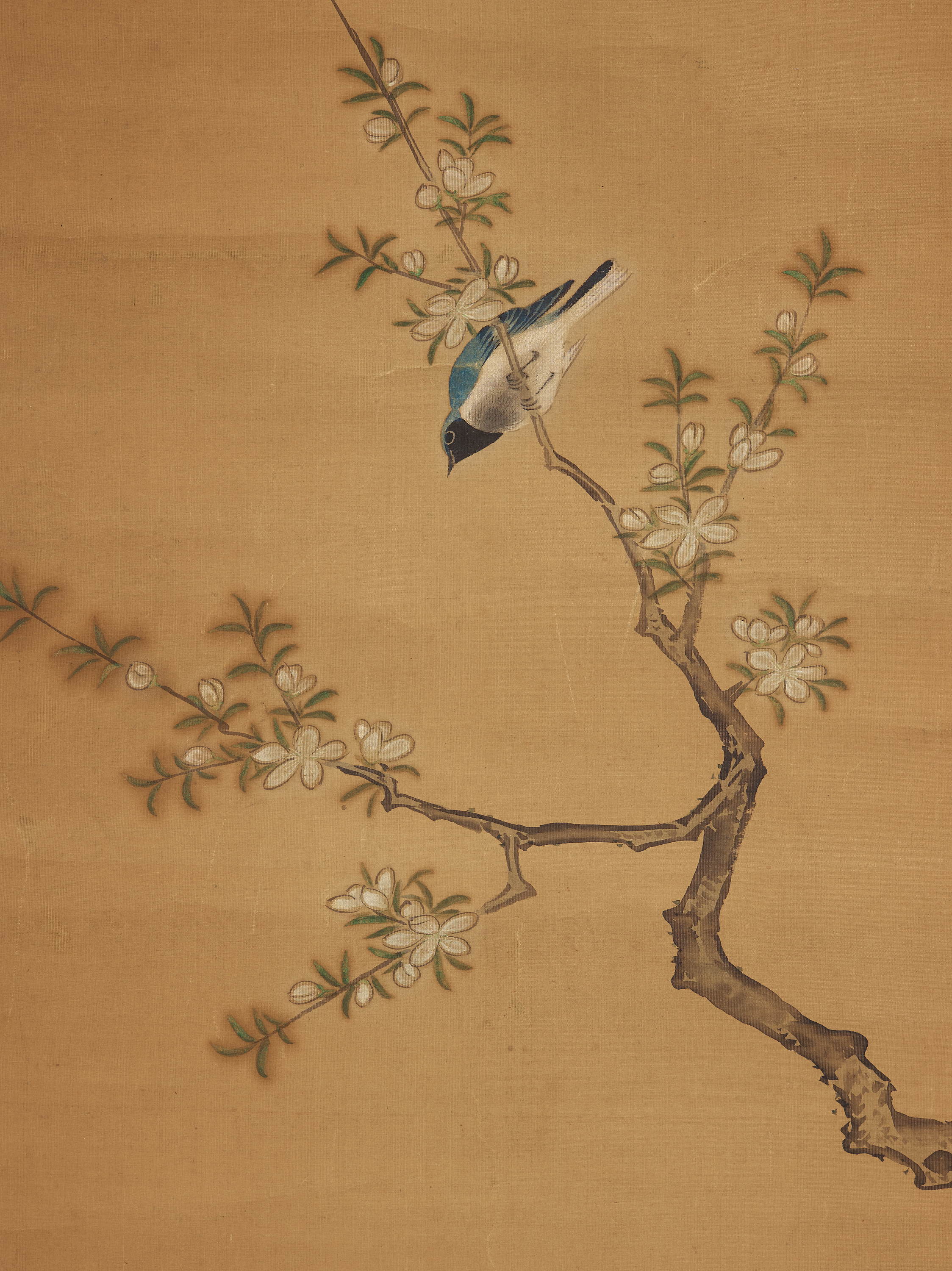 A Korean hanging scroll of birds, Joseon dynasty, late 19th