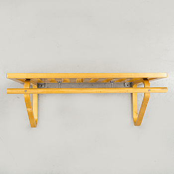 ALVAR AALTO, An Alvar Aalto birch hat rack, prabably made by Hedemora, Finland, 40s/50s.