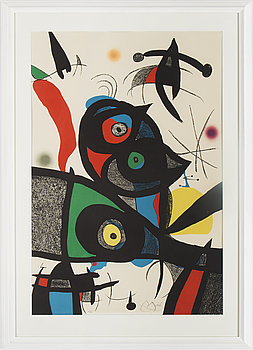 JOAN MIRÓ, lithograph in colours, signed Miró and numbered 66/75 with pencil. Executed in 1973.