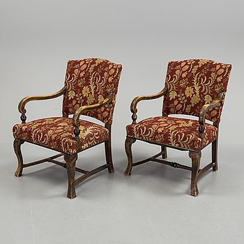 A pair of 1930s/1940s armchairs by Ferdinand Lundqvist.