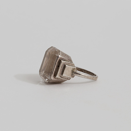 A rock crystal ring by wiwen nilsson, lund