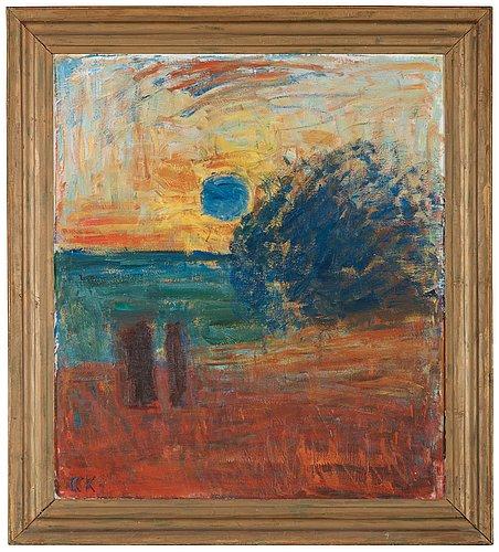 "Carl kylberg, ""morgon vid havet (soluppgång)""."