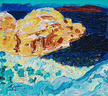 """28. Inge Schiöler, """"Klippor och hav""""."""