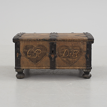 A 1700s/1800s coffin.