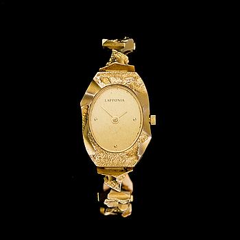 "BJÖRN WECKSTRÖM, armbandsur ""Pola negri"", 14K guld. Lapponia 1987."