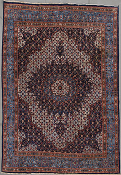 An oriental carpet possibly from Moud, around 310 x 210 cm.