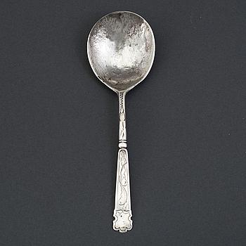 Sked, icke identifierad mästarstämpel, silver, Norge 1600-talets andra hälft.