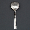 A norwegian 17th century silver spoon, unidentified makers mark.