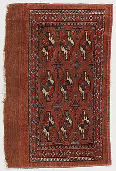 MATTA/VÄSKA, semiantik Tekke/yomoud Chuval, 118 x 78 cm.