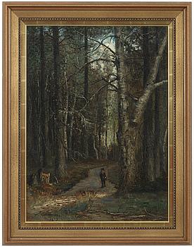 OLOF HERMELIN, OLOF HERMELIN, oil on canvas laid down on panel, signed O. Hermelin and dated 1873.