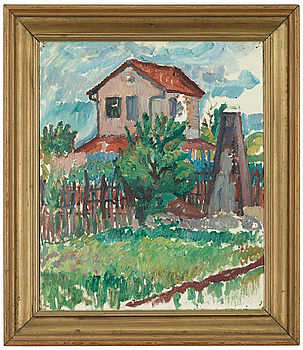 """GÖSTA SANDELS, GÖSTA SANDELS, oil on canvas, indistinctly signed Sandels. Stretcher inscribed in pencil: """"Sandels Paris 1911""""."""
