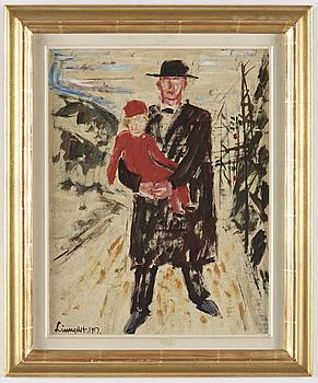 HILDING LINNQVIST, pappannå, signerad Linnqvist och daterad 1917.